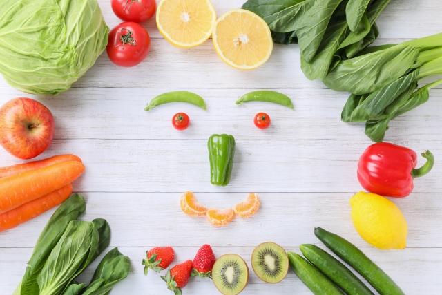 野菜で笑顔