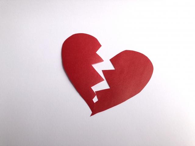 失恋した心
